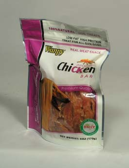 Wanpy Dog pochoutka Jerky Chicken Bar 170g