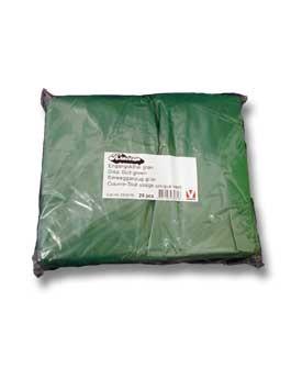 Oblek jednorázový zelený s dlouhým rukávem 20ks