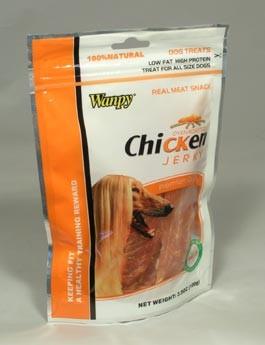 Wanpy Dog pochoutka Jerky Chicken 454g