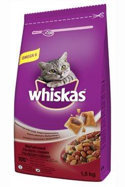 Whiskas Dry s hovězím masem 1,5kg