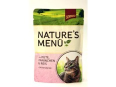 obrázek Schmusy Cat Nature Menu kapsa krůta+králík 100g