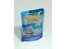 obrázek Schmusy Cat kapsa Fish sardinky v želé 100g