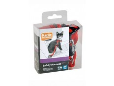 obrázek Postroj kočka Bezpečnostní do auta 25mm červený KAR
