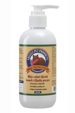 Lososový olej pes Grizzly Wild Salmon 250ml