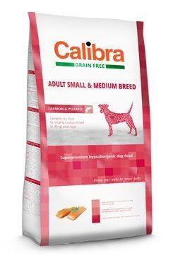 Calibra Dog GF Adult Medium & Small Salmon 2kg NEW