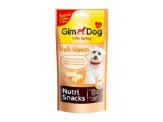 obrázek GIMDOG Nutri Snack multivitaminové mini kostičky 40g