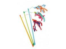 obrázek Hračka kočka udice Ribbon fishing mix barev Zolux