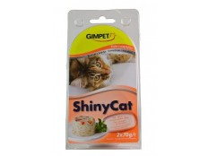 obrázek Gimpet kočka konz. ShinyCat  kuře/papaja 2x70g