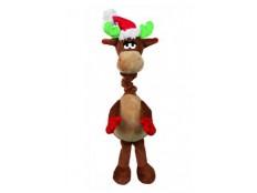 obrázek Vánoční Hračka pes Los natahovací krk 40cm TR 1ks