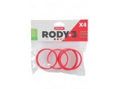 obrázek Komponenty Rody 3-spojovací kroužek červený 4ks Zolux