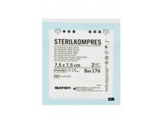obrázek Kompres gáza sterilní Sterilkompr 7,5x7,5cm 2ks BATIST