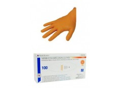 obrázek Rukavice nest.vyš.HENRY SCHEIN nitril L/100ks oranžové
