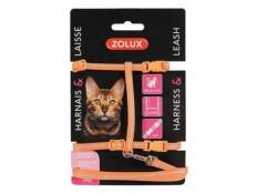 obrázek Postroj kočka s vodítkem 1,2m oranžový Zolux