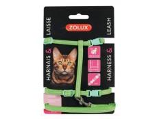 obrázek Postroj kočka s vodítkem 1,2m zelený Zolux