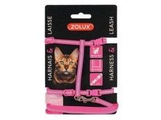 obrázek Postroj kočka s vodítkem 1,2m růžový Zolux
