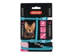 obrázek Postroj kočka s vodítkem 1,2m modrý Zolux