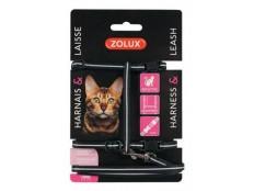 obrázek Postroj kočka s vodítkem 1,2m černý Zolux