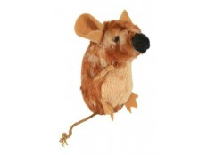 obrázek Hračka kočka Myš stojící plyšová s catnipem 8cm TR 1ks