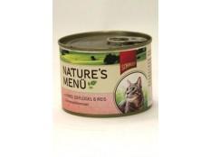 obrázek Schmusy Cat Nature Menu konzerva hovězí+drůbež 190g