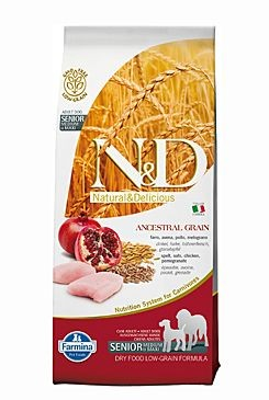 N&D Low Grain DOG Senior M/L Chicken&Pomegr 12kg