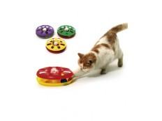 obrázek Hračka kočka Talíř plast oboustr. s míčkem 24cm KAR1ks