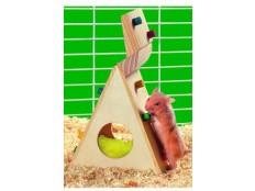 Hračka křeček lezecká stěna dřevo 12cm KAR 1ks