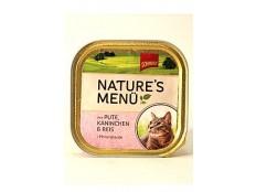 obrázek Schmusy Cat Nature Menu vanička krůta+králík 100g