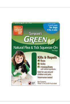 Sergeanťs Green spot on pro psy nad 30kg 4x5ml