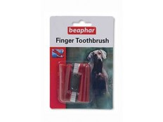 obrázek Beaphar Zubní kartáček na prst pes