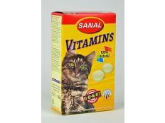 obrázek Sanal kočka Vitamins kalcium s vitamíny 60g/100tbl