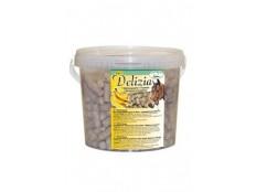 obrázek Pochoutka pro koně DELIZIA banán 3kg kbelík