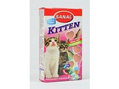 obrázek Sanal kočka Kitten srdíčka losos + taurin 40tbl