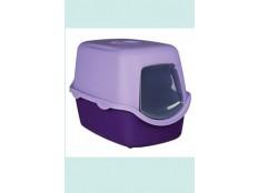 obrázek WC kočka kryté domek VICO 40x40x56 TR fialová