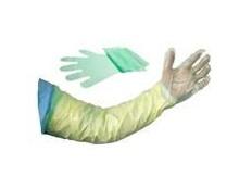 obrázek Rukavice jednor. dlouhé jemné zelené Henry Schein100ks